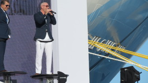 Mr. Worldwide Christens Norwegian Escape in True Miami Style