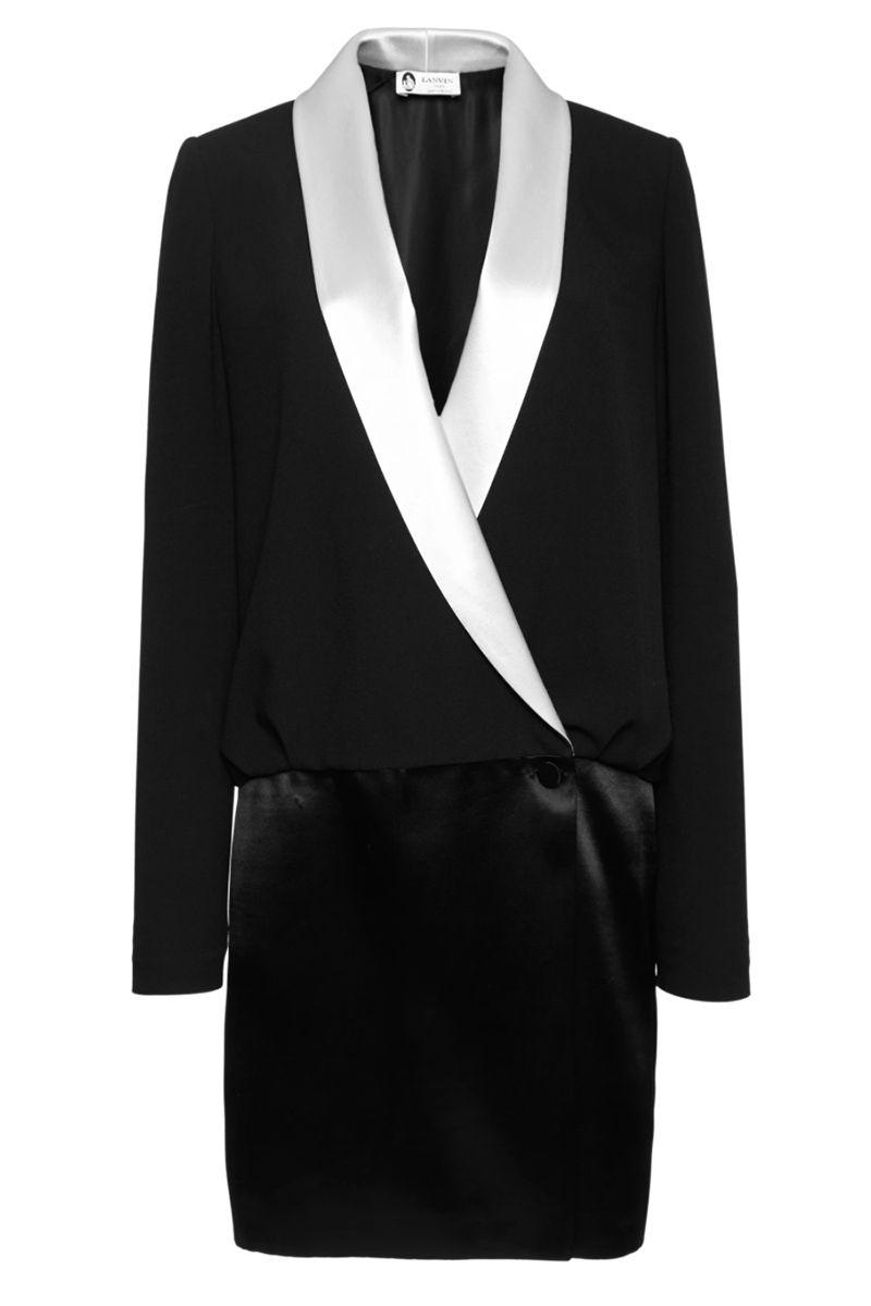 Tuxedo dress. LANVIN