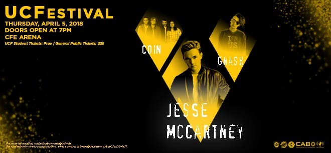 UCFestival feat. Jesse McCartney, Gnash and COIN